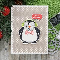 Merry Christmas Penguin Shaker Card *Jillibean Soup*