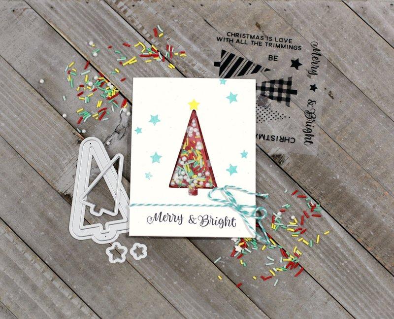 Merry & Bright Tree Shaker Card *Jillibean Soup*