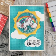 Rainbows and Unicorns Shaker Card *Jillibean Soup*