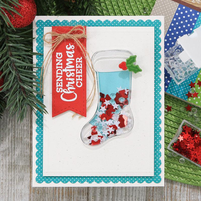 Sending Christmas Cheer Shaker Card *Jillibean Soup*