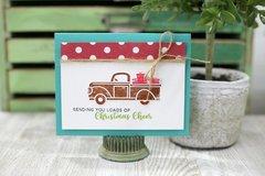 Sending Christmas Cheer Truck Shaker Card *Jillibean Soup*