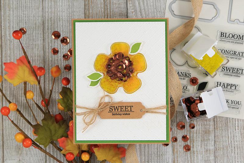 Sunflower Shaker Card *Jillibean Soup*