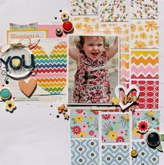 You Smile layout by Nicole Nowosad