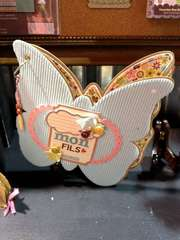 NEW Jillibean Soup CHA - Chipboard Butterfly Album