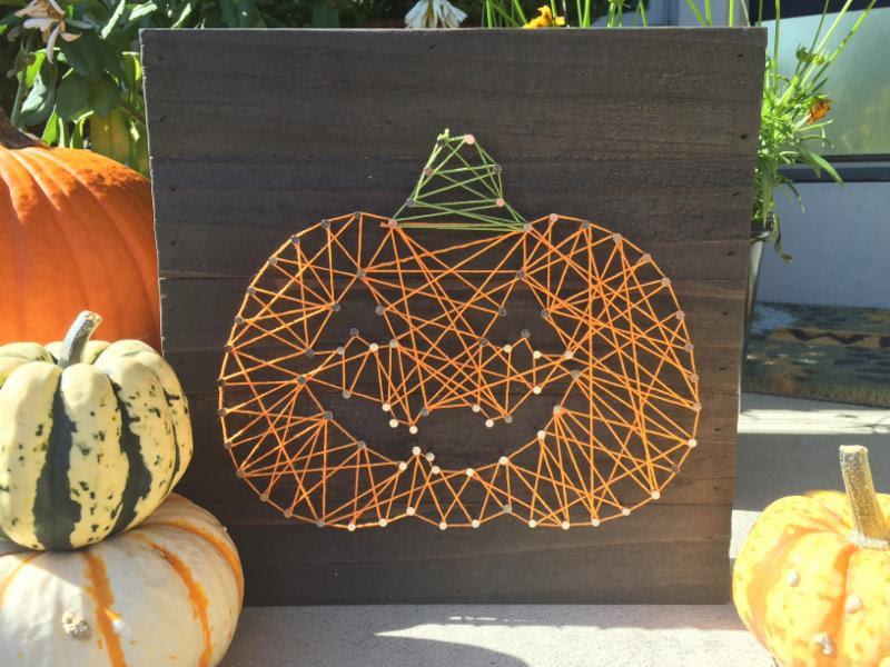 Jillibean Soup Fall/Halloween String Art kit - Carved Pumpkin/JackOLantern