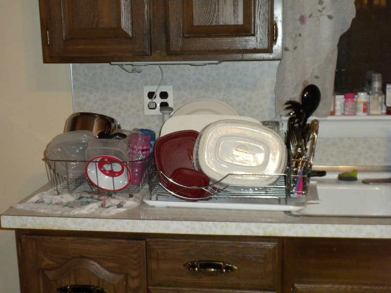 Jan AGC photo challenge week 2 SOmething from your work place - My dishes haha, I am a SAHM