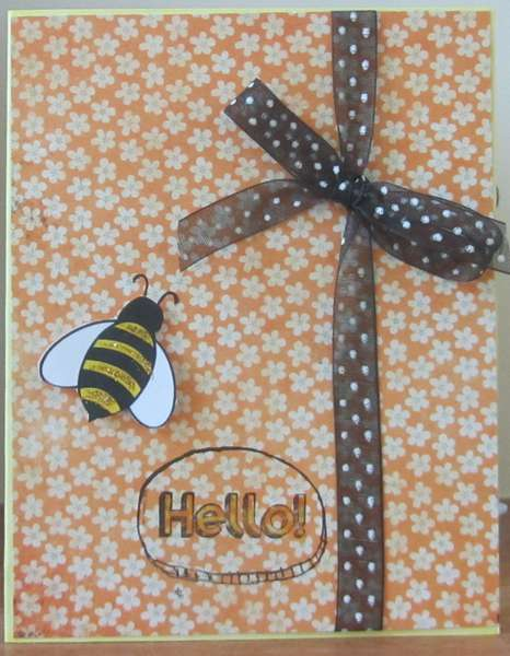 Bee Hello Card