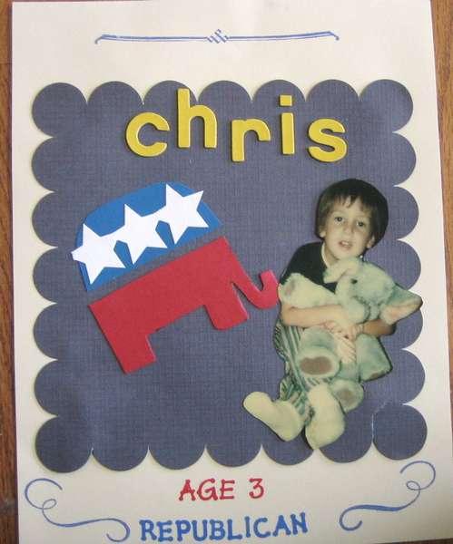 Chris; Age 3 Republican