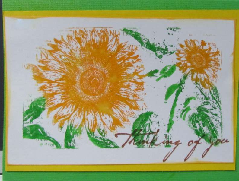 Sunflower Stamped Card