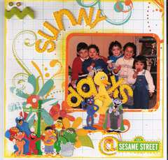 SUNNY DAYS@ SESAME STREET.