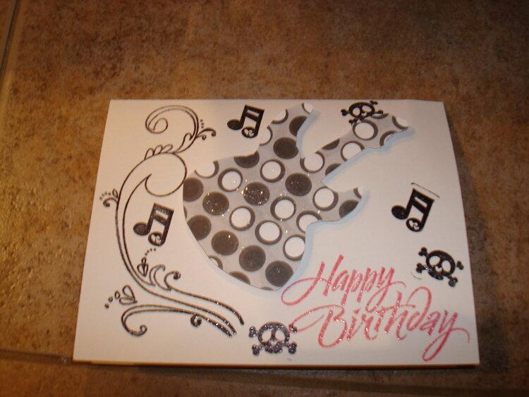 Rock & Roll Birthday Card