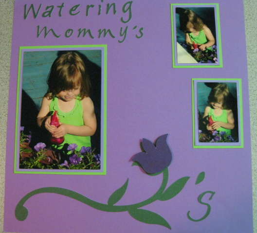 Watering Mommy's Flowers