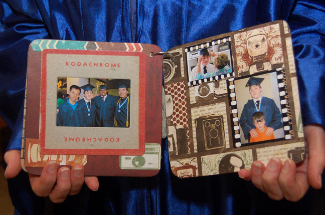 """Oh Snap"" Graduation album p. 3 and 4"