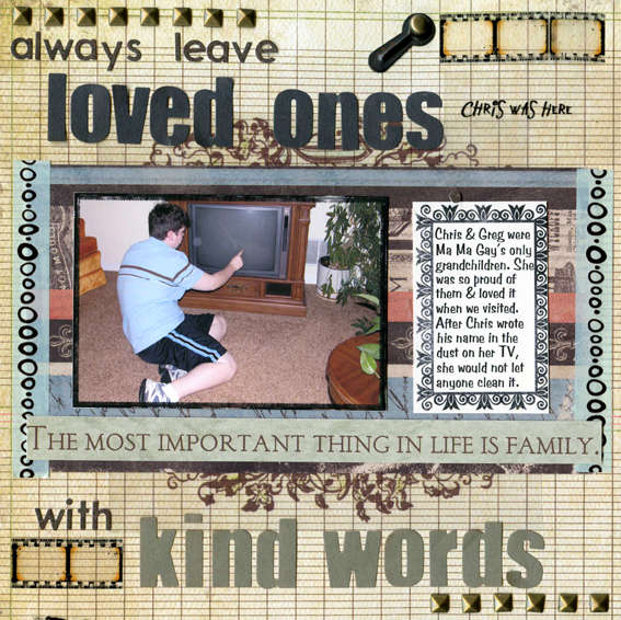 Always Leave Loved Ones with Kind Words (To Dos)