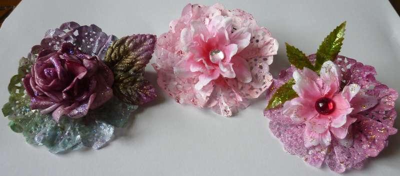 Handmade Paper,Silk and Styrofoam Flowers