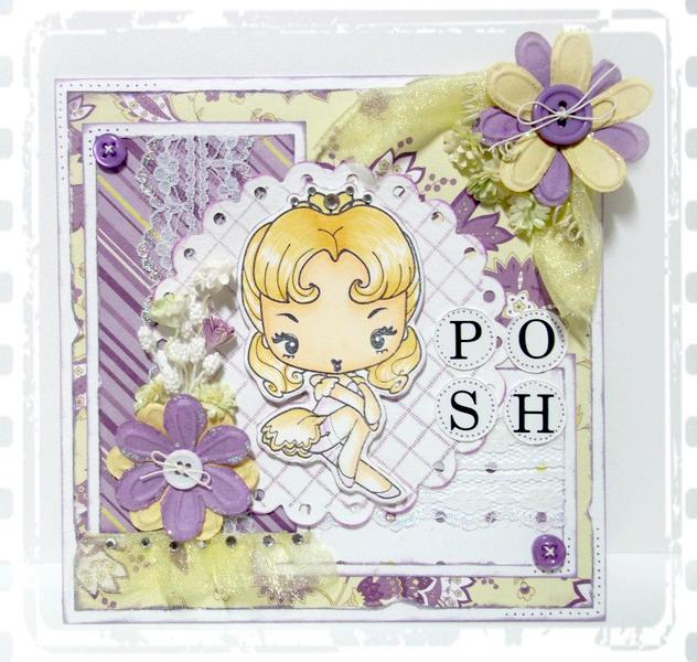 Purple Posh Card