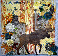 Mixed Media Moose!