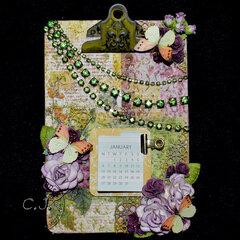 Clipboard Calendar for Robbie! (ReneaBouquet Swap)