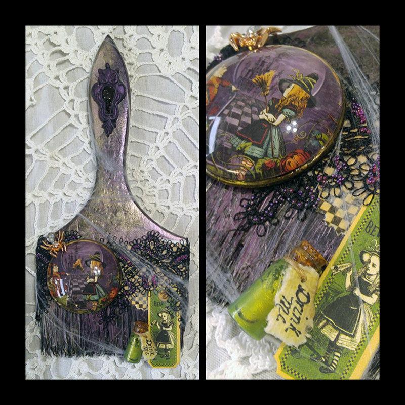 Halloween In Wonderland (Altered Paintbrush)