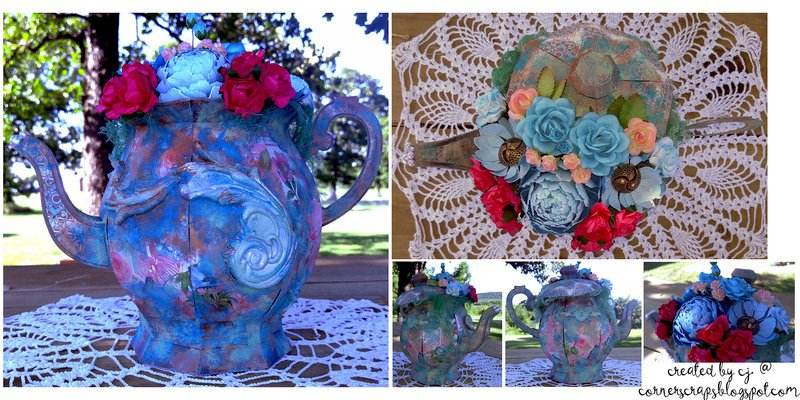 "Altered ""Teapot"" - Reneabouquet Garden Party Challenge!"