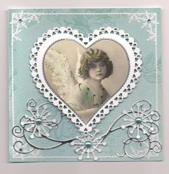 Aqua Christmas Heart