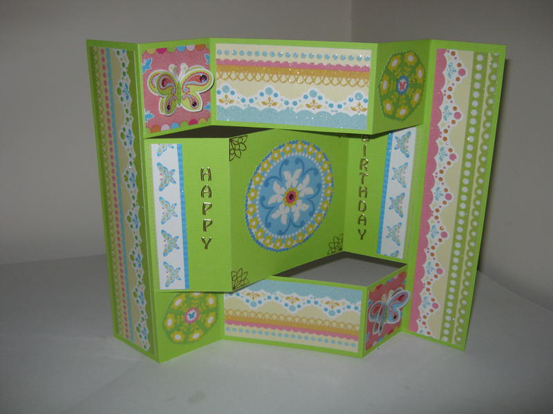 Tri-fold birthday card