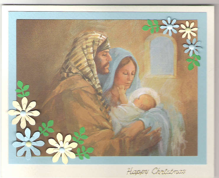 Nativity recycled card