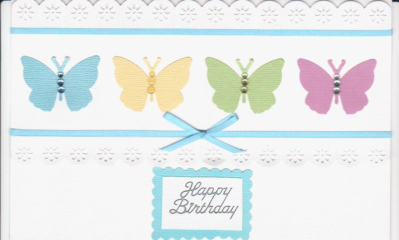 4 Butterflies card