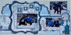 First Snow of Winter *Bo Bunny Midnight Frost*