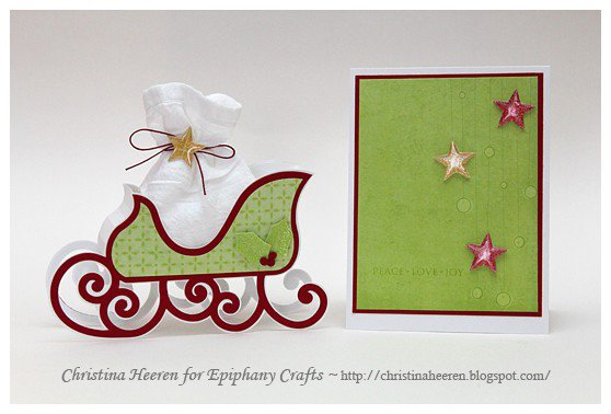 Holiday Card and Sleigh Gift Box