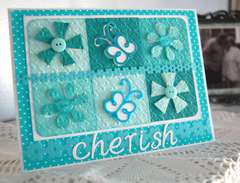 Cherish card (Bazzill Fourz and Cuttlebug)