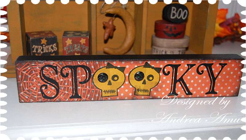 Imaginisce Spooky Wood-Block Home Decor Sign