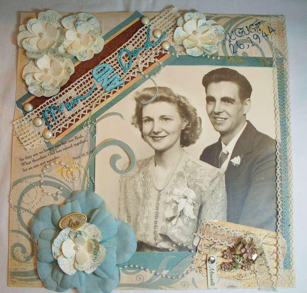 My Parent's Wedding Day - 1944