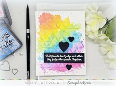 Best Friends Forever Watercolor Stencil with Distress Oxides