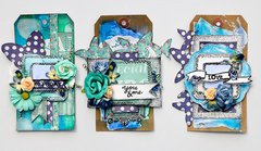 Blue Butterfly Tags *Prima*