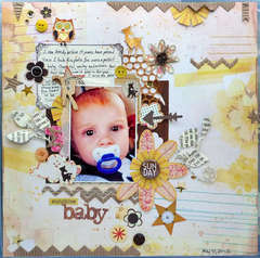 Sunday Sunshine Baby- A Flair For Buttons DT