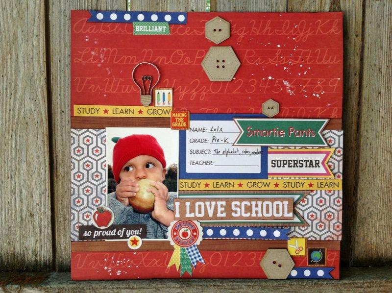 I Love School. Scrap FX & Ruby Rock It Blog Hop