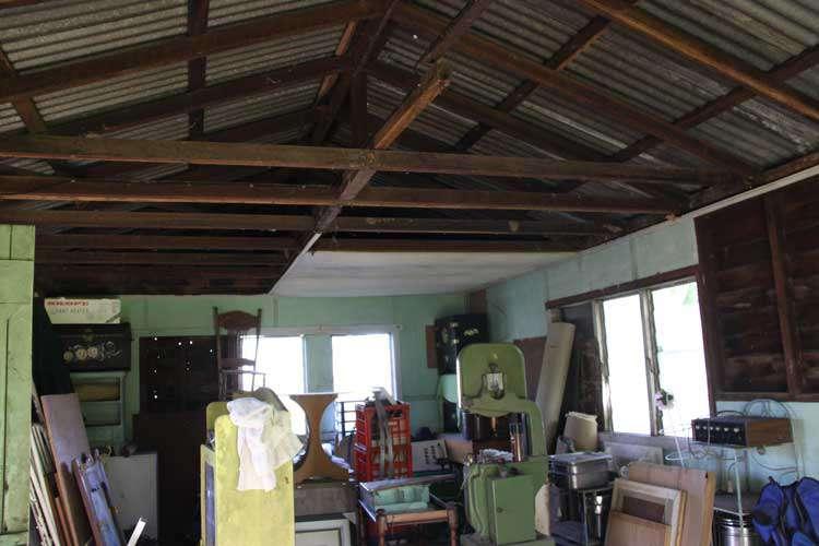 Old storage shed.