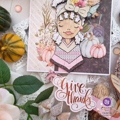 Hello Pink Autumn Card by Tanya Cloete