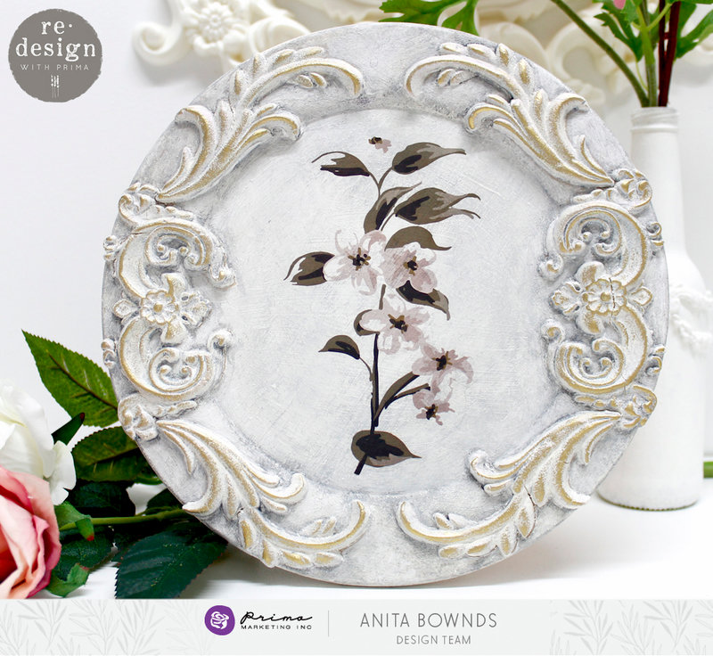 [re]design with prima altered plate charger by Anita