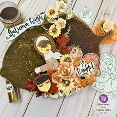 Julie Nutting Fall 2020 (Autumn Hugs) Altered Acorn by Shannon Helwig