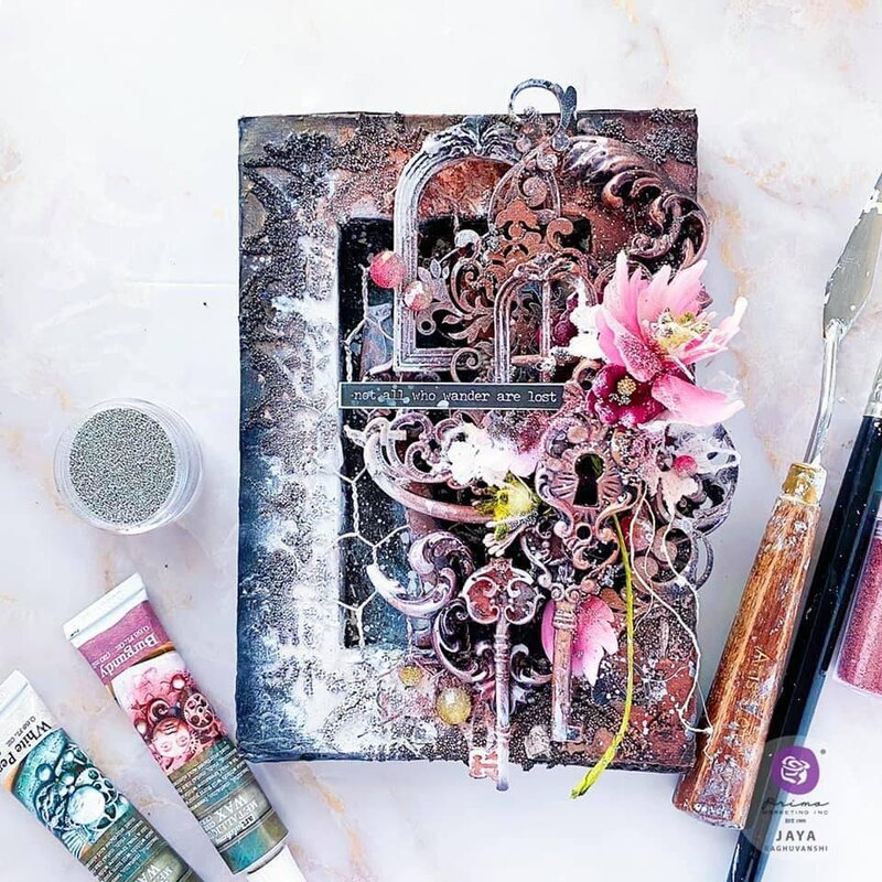 Finnabair Fall 2020 Mixed Media Canvas by Jaya Raghuvanshi