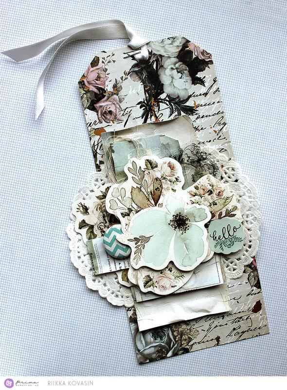 Vintage Floral Tag by Riikka