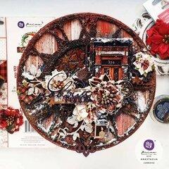 Christmas in the Country Mixed Media Canvas by Anastasija Cernova