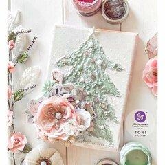 Sugar Cookie Christmas Tree Canvas by Toni Tickner