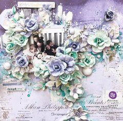 Watercolor Floral Collection Layout by Stacey Young