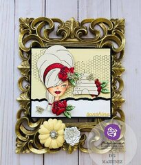 Julie Nutting Miss Bea Doll Card by DG Martinez