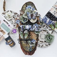 Nature Lover Collection Altered Wood Slice by Anastasija Cernova