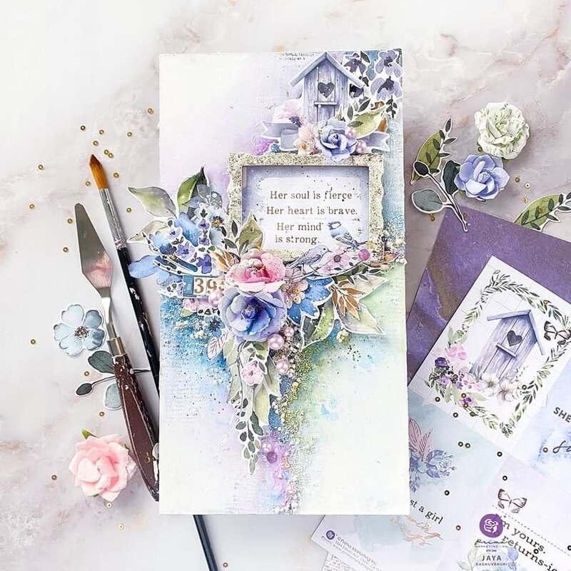 Watercolor Floral Collection Canvas by Jaya Raghuvanshi