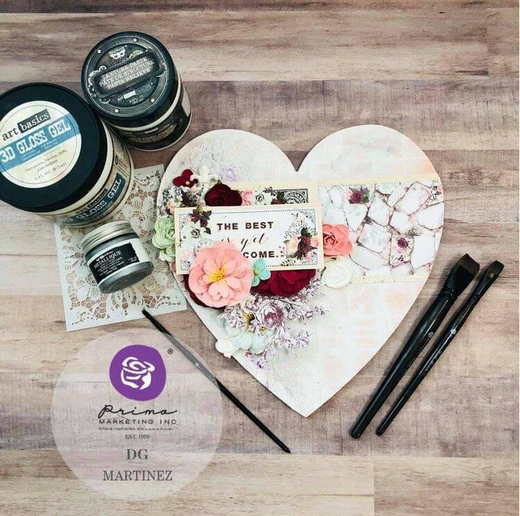 Pretty Mosaic Heart by DG Martinez